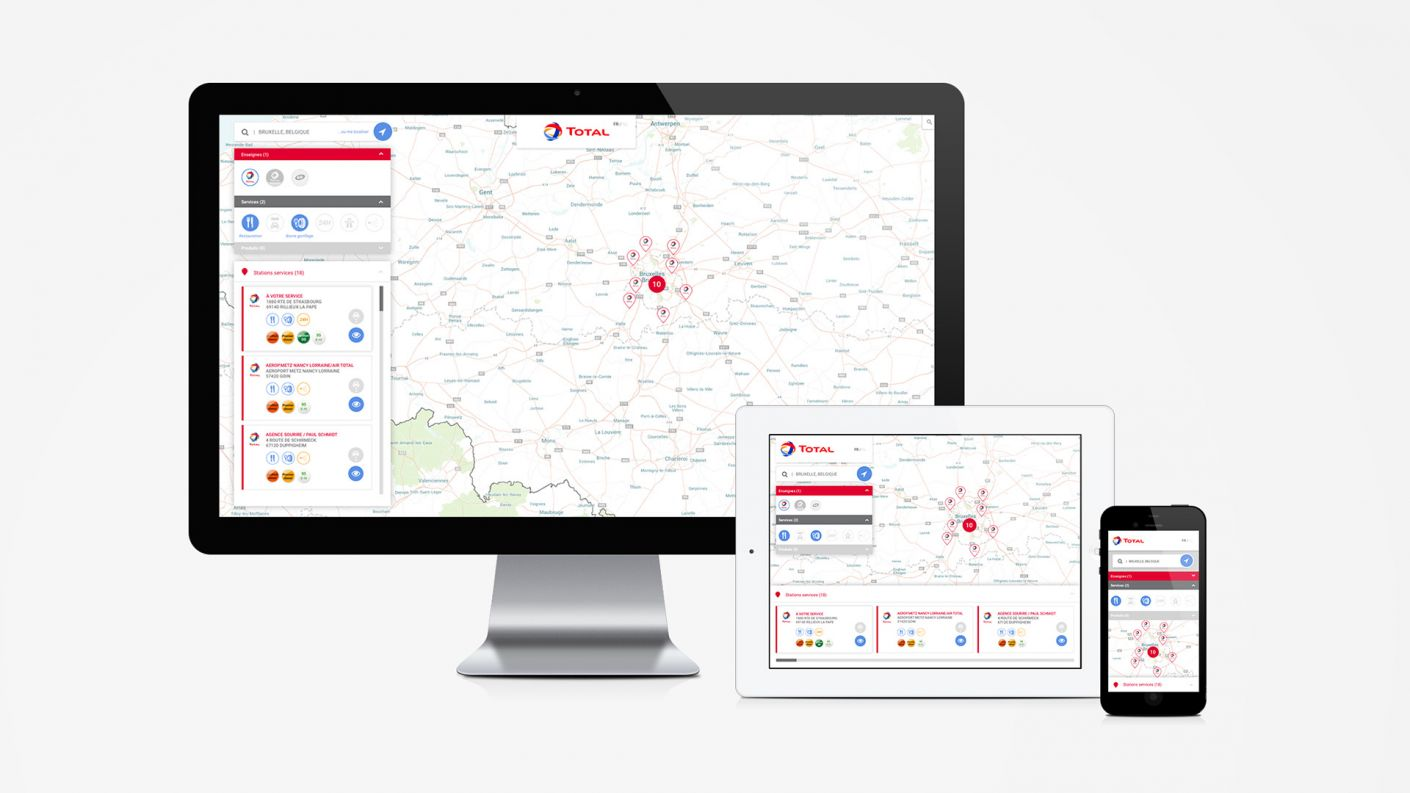 UI UX Design - Cartographie - Grands Comptes - Création Interface